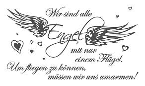 spruch wandtattoo liebe wir sind alle engel schlafzimmer