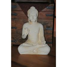 buddha figur groß feng shui statue budda h 45 cm figur garten deko we 44 95