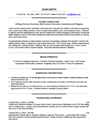 Oil And Gas Resume Templates Samples Examples