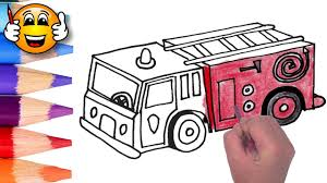 Coloring Pages For Kids Fire Truck Fire Engine | Coloring For Kids ...