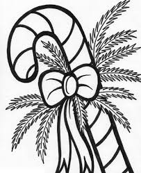 Xmas Candy Cane Coloring Pages For Kids