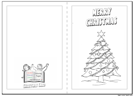 Christmas Card Printable Coloring Pages Fun For