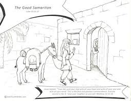 Good Samaritan Lesson Coloring Page