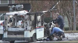 100 Postal Truck Fire US Vehicle Catches Fire In Tyler Neighborhood Mail Destroyed