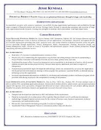Resume Objective Examples For Financial Product Sales With Career Highlights And Key Achievements