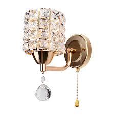kristall wand licht wand leuchte moderne kristall wand le schlafzimmer wohnzimmer beleuchtung golden wandle 19 5 x 27 x 10 5 cm deco