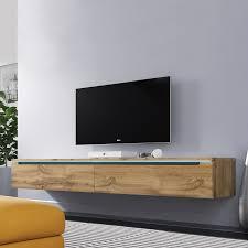 tv lowboard in weiß beige wotan eiche stehend oder