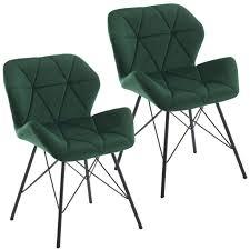 duhome 2er set esszimmerstuhl stoff samt dunkel grün konferenzstuhl vintage design stuhl retro