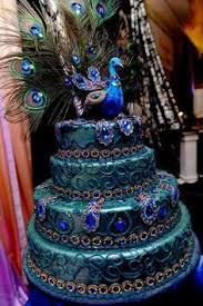 Peacock Themed Wedding Cake Wedding accessories