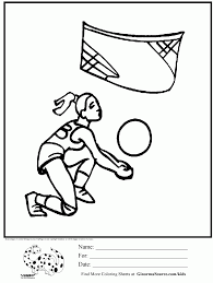 Olympic Volleyball Coloring Page Kids Activities Net Pages Holidays