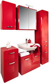 held möbel spiegelschrank rot de küche haushalt