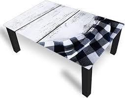 dekoglas couchtisch tischdecke schwarz glastisch