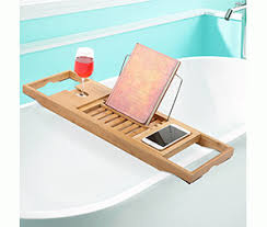 Bamboo Bathtub Caddy With Reading Rack by Top 10 Best Bathtub Trays In 2017 Reviews All True Stuff