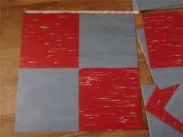 32 X Fab Retro Vintage 1950 S VINYL LINOLEUM Floor Tiles Lot 30cm Red And Blue