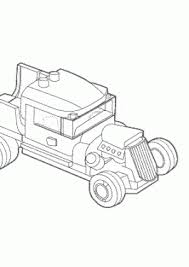 Lego Old Car Coloring Page For Kids Printable Free
