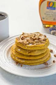 Pumpkin Pancakes With Gluten Free Bisquick by Peanut Butter Pumpkin Pancakes Love U0026 Zest Breakfast Recipe