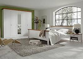 schlafzimmer komplett 4er set kiefer massiv weiss