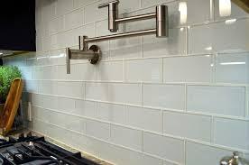 white glass tile glass subway tile inspirations marku home design