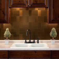 Stainless Steel Tile Backsplash Ideas Kitchen Metal Tile Stamped