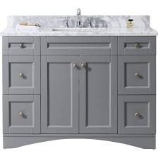 48 Cabinet With Drawers by Virtu Usa Elise 48 In W X 22 In D Vanity In Grey With Marble