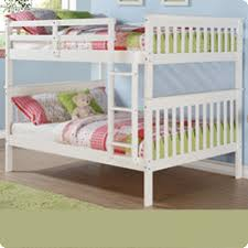 Donco Kids Full over Full Bunk Bed with Attached Ladder in White