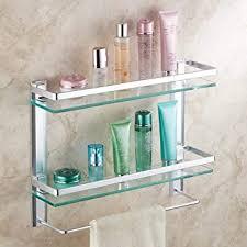 bathroom shelf glass partition wall mounted
