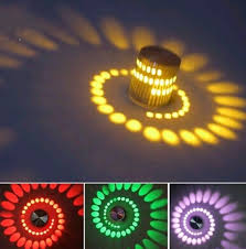 3w rgb led wall l artistic modern light bulb with scattering