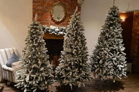 6 Ft Flocked Christmas Tree Uk by 6ft 7ft Or 8ft Premier Snow Valley Fir Deluxe Snow Flocked