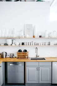 Wall Shelves Could Fit Well A Minimal Kitchen Design