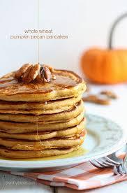 Easy Healthy Pumpkin Pancake Recipe by Whole Wheat Pumpkin Pecan Pancakes Skinnytaste