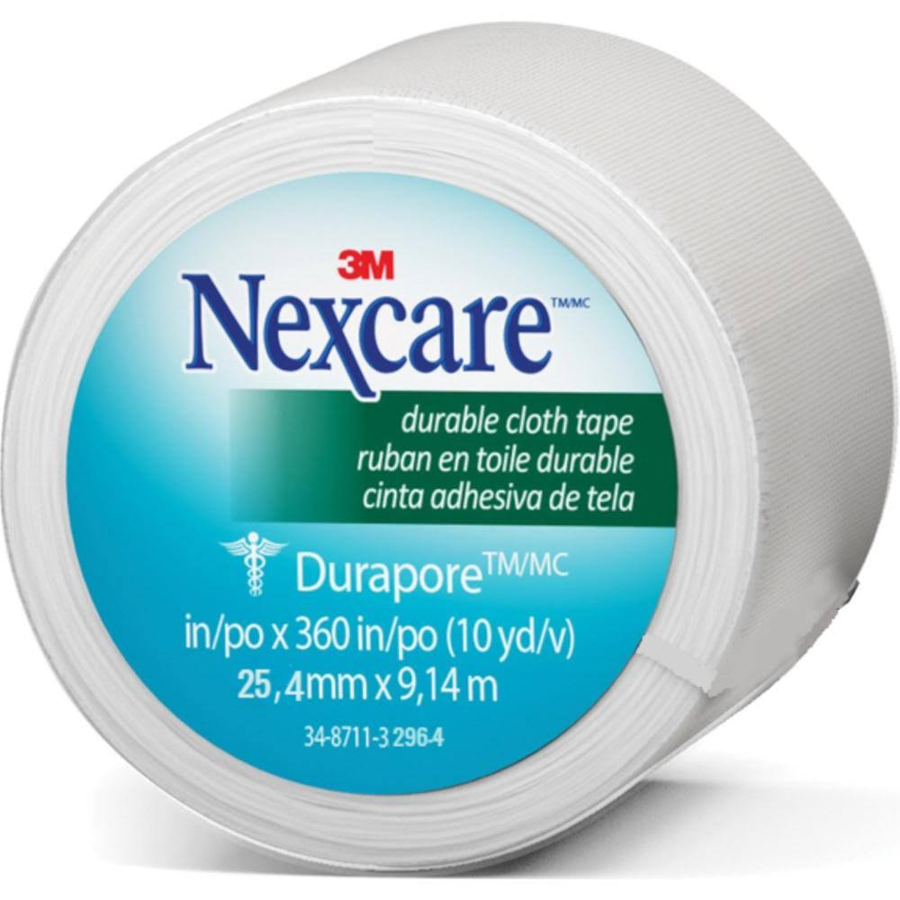 3M Nexcare Durapore Cloth First Aid Tape - 1in x 10yd