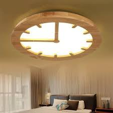 kreative gravur führte holz uhr schlafzimmer deckenleuchte japan ursprüngliche getriebe getriebe moderne einfache wohnzimmer deckenleuchte leuchte