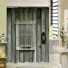 Polyester Shower Curtain Old Bronze Wooden Garage Door Vintage Rustic American Country Style Bathroom Decor Art In Curtains From Home