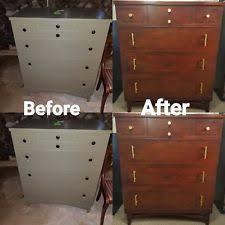 Mid Century Modern Refinished Walnut Dresser