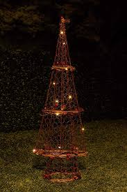 Amazon Alpine Corporation Rattan Light Up Christmas Tree Decor