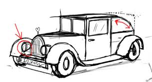 How I Draw A Old Classic Car