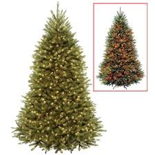 National Tree Company 75 Ft PowerConnect Dunhill Fir Artificial Christmas With Dual Color LED