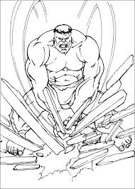 Hulk Stone Crushing Coloring Pages For Kids Printable