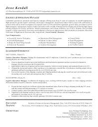 Logistics Resume Sample Director Of Operations Manager With