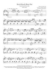 kuch kuch hota hai piano notes kuch kuch hota hai