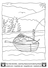 Lake Coloring Sheet