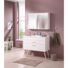 held möbel badmöbel set retro 2 tlg breite 100 cm mit spiegelschrank