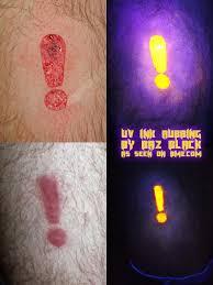 Uv Ink Rubbing By Baz Black