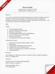 Healthcare Resume Samples Fresh Examples Medical Assistant Graduate Template Of