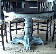 Dining Table Makeovers Chalk Paint Kitchen Ideas Blue Makeover Painted Furniture For