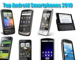 Top Android Smartphones 2010