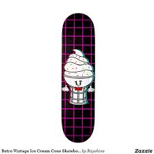 100 Ccs Decks Retro Vintage Ice Cream Cone Skateboard Deck Skateboard