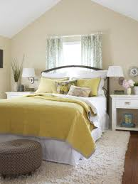 BedroomBeige Wall Color And Yellow Comforter For Pretty Bedroom Ideas Photo Colors