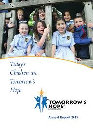 100 Eileen Alexanderson Tomorrows Hope Foundation 2015 Annual Report By Tomorrows