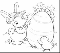 Extraordinary Easter Bunny Coloring Pages Printable With Page And